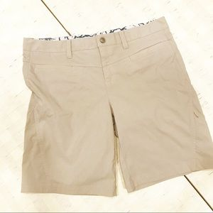 ATHLETA  Tan Dipper Bermuda Hiking Shorts